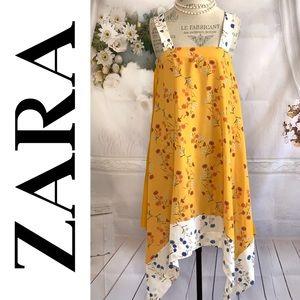 Zara Yellow Mustard floral Tunic Dress